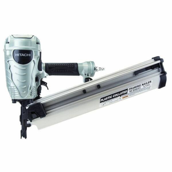 Hitachi Nr90aes1 2 To 3 1 2 Plastic Collated Framing Nailer Nail