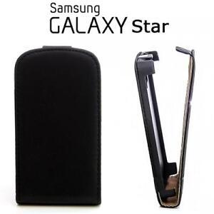 Flip-Case-Handy-Tasche-Etui-Samsung-S5280-Galaxy-Star-Schwarz-Cover-Huelle-Bag
