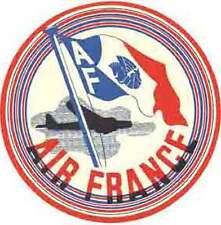 AIR FRANCE    Vintage-Looking  Travel Decal -  Luggage Label  - Airline Sticker