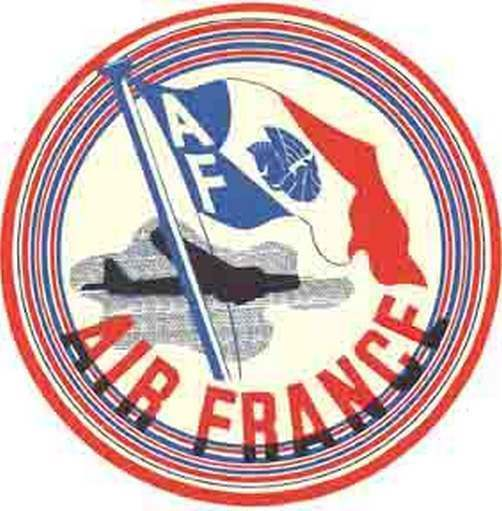 Buy Air France Vintage Looking Travel Decal Luggage Label Airline