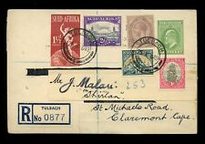 SOUTH AFRICA ORANGE RIVER COLONY REGIST.STATIONERY POSTCARD USED in 1949 TULBAGH