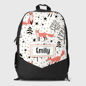 Drawstring Backpack Winter Woodland Rucksack