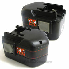 2 x 14.4V 14.4 VOLT NiCD Battery for MILWAUKEE 48-11-1024 Cordless Drill