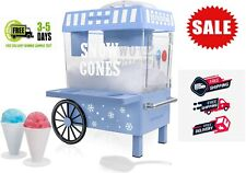 Commercial Snow Cone Machine Maker Shaved Electric Ice Shaver Crusher Shaving