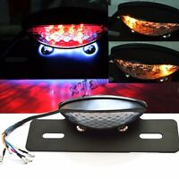 Motorcycle Tail Light Turn Signal 14 Led Brake License Plate Light Clear Us Sell