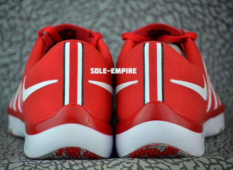 Nike Free Trainer 5.0 V6 AMP Ohio State Buckeyes 723939-603 NEW OSU White Red