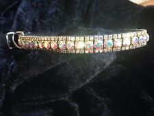 Hermosa Preciosa Cristal Collar De Perro hecho a pedido Sparkle Bling!!!