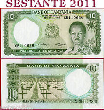 TANZANIA    -  10  SHILLINGS nd 1966   - P 2b   -   SPL+ / XF