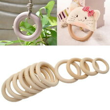 10pcs/Lot Unfinished Natural Wooden Round Rings DIY Wood Craft Bunny 55mm O