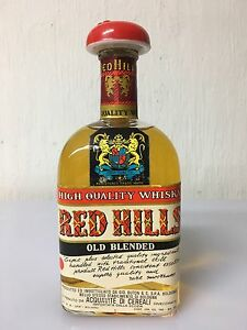 BUTON-WHISKY-RED-HILLS-HIGH-QUALITY-WHISKY-OLD-BLENDED-75-Cl-43-Vol-Vintage-B