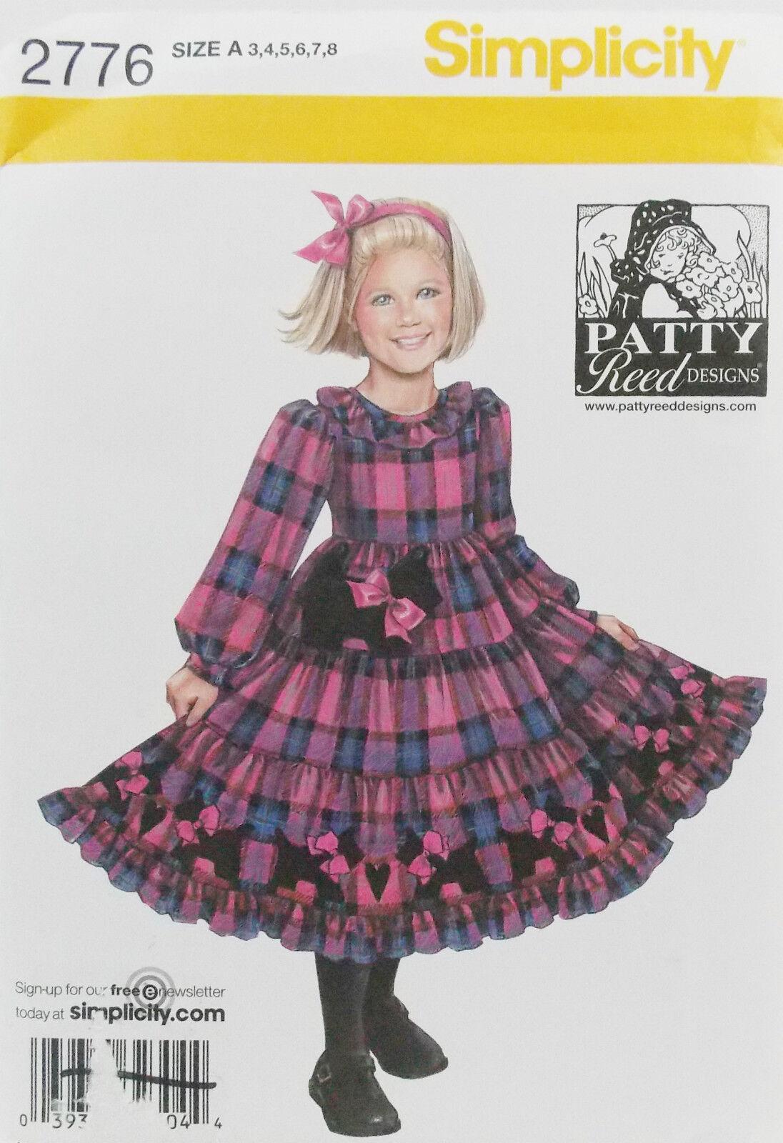 Simplicity 8565//D0911     Childs Dresses /& Purses  Sizes 3-8  Ruby Jeans Closet