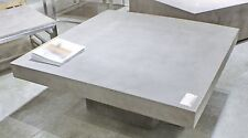 """43"""" Square Coffee table Solid concrete slab top Cement Sealed for Indoor Outdoor"""