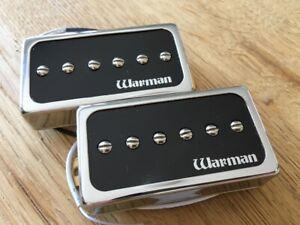 Pair of Warman HBP90 humbucker sized P90 guitar pickups