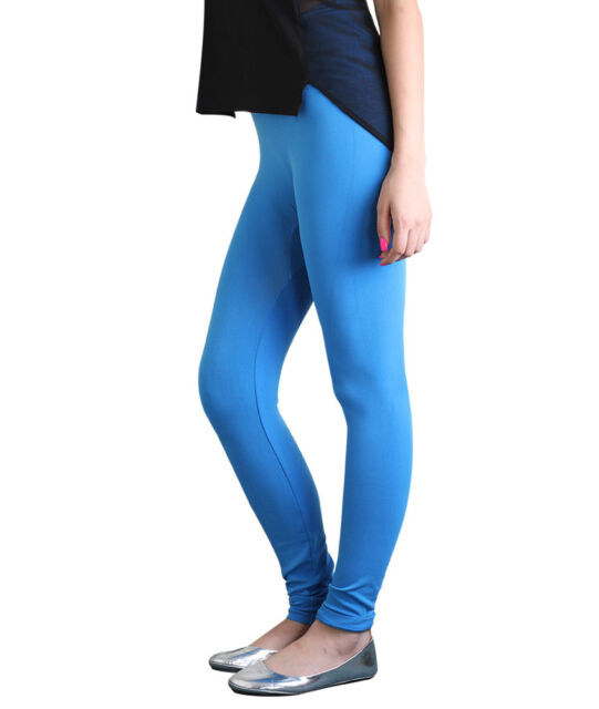NEW LADIES FULL LENGTH ALL COLORS WOMENS SKINNY FIT SIZE 8-22 COTTON LEGGINGS