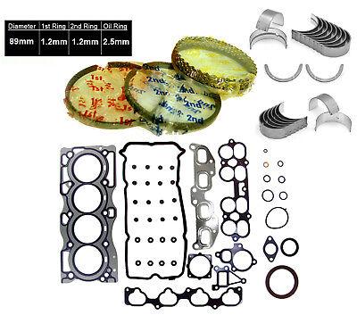 GRAPHITE FULL SET RINGS BEARINGS Fit 02-06  Altima Sentra 2.5L QR25DE