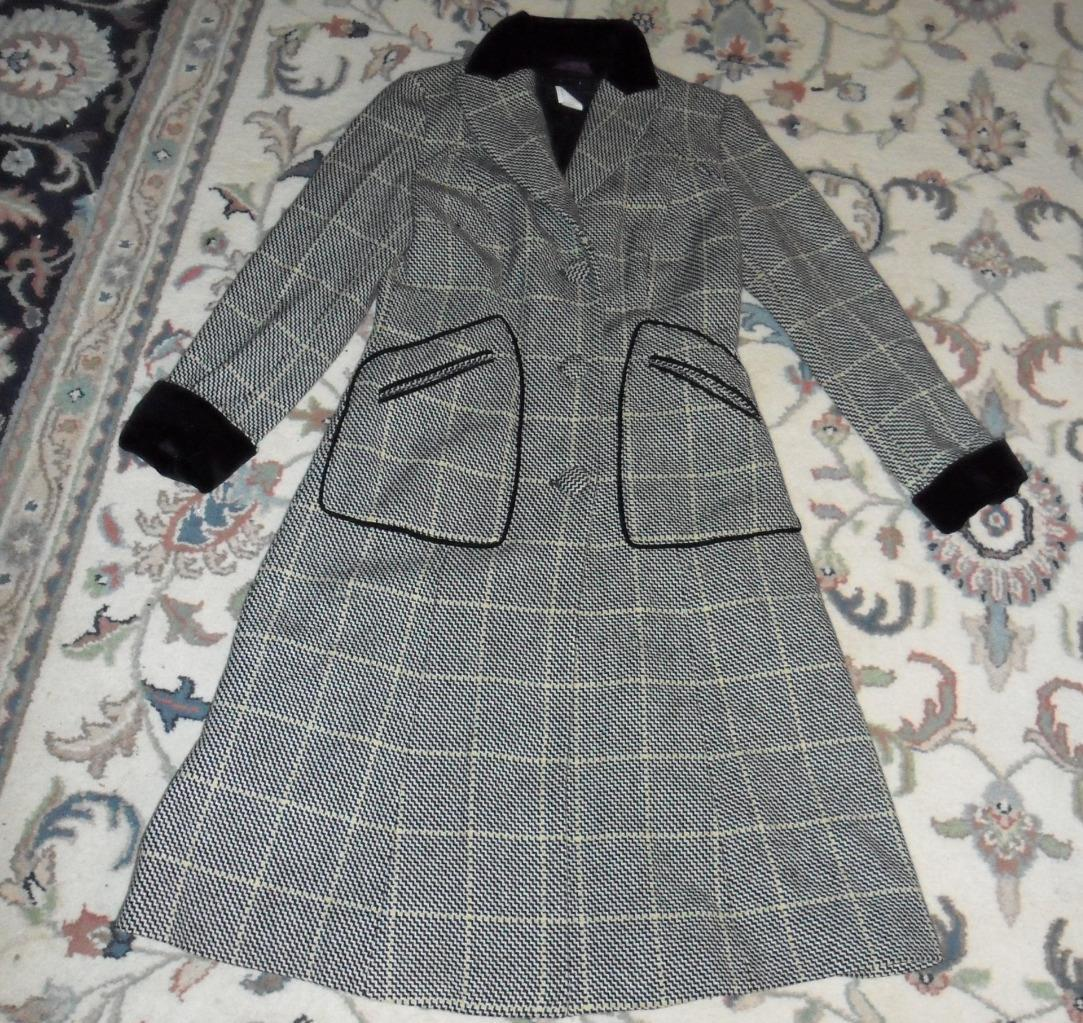Authentic Les Copains Made in  multi color tweed like long coat