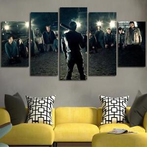 Image is loading 5-piece-canvas-art-The-Walking-Dead-Negan- & 5 piece canvas art The Walking Dead Negan Wall Art Canvas unframed ...