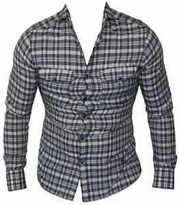 New-G-Star-Raw-Mens-Casual-Shirt-RCT-Western-Wide-Spread-in-Indigo-Colour-Size-S