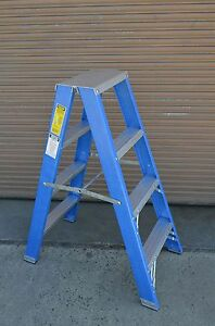 Double Sided Fibreglass Step Ladder 1 2m 4 Feet Foot Ft