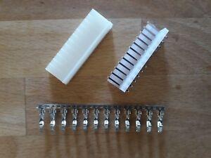 """2 Stück Molex 12pol Stiftleiste Stecker 0,156"""" 3.96 Mm Pinball Repair Kit Unterscheidungskraft FüR Seine Traditionellen Eigenschaften"""