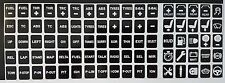 Keyboard sim racing button stickers for iracing, asserto Corsa etc