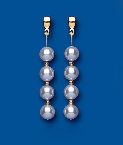 Pearl Earrings Yellow Gold Solid 9 Carat Drop