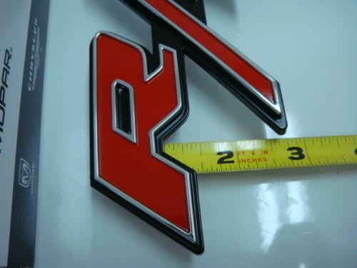 Dodge Charger 2006-2010 Front Grill Grelha R//t Rt Vermelho Emblema Logotipo Original Novo