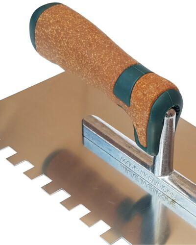 CARRELEUR PRO Plancher Truelle 10 mm Notch Tile Adhésif en Acier Inoxydable Carrelage allemand