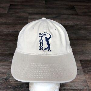 PGA-TOUR-Hat-Baseball-Cap-Adjustable-Strapback-Tan-Golf-The-Game
