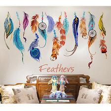 Hot Feather Dream Catcher Sofa Wall Sticker Art Decal Mural Lucky Room Decor