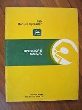 John Deere 450 Manure Spreader Operator's Manual