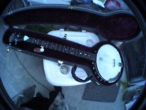 Sale beautiful 22 fret 5 string deering boston OB banjo with case from 1998