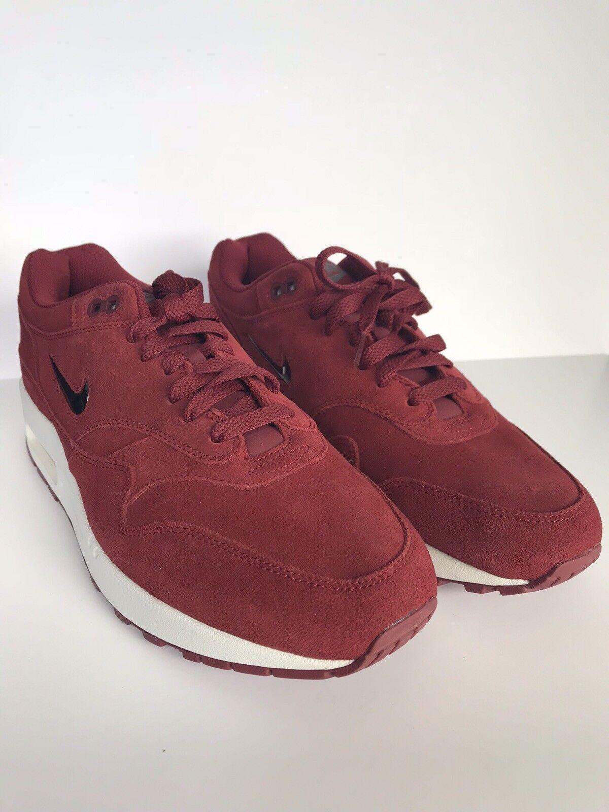 Nike rote air max 1 premium - sc juwel rote Nike wildleder 9,5 918354-600 4f4f5d