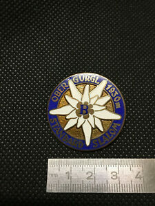 alter-Pin-Anstecker-SKI-Badge-OBERGURGL-STANDARD-SLALOM-B-50-60er-Jahre