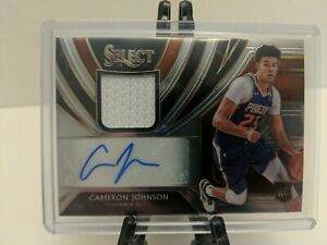 Cameron Johnson 2019-20 Prizm Select Patch Auto RPA Suns 23/199. Jersey # Rookie