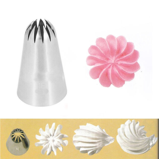 #1e Stainless Steel Large Cream Flower Icing Piping ...