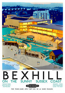 British Southern Railway Advert Retro Vintage Photo Poster Bexhill-On-Sea 2