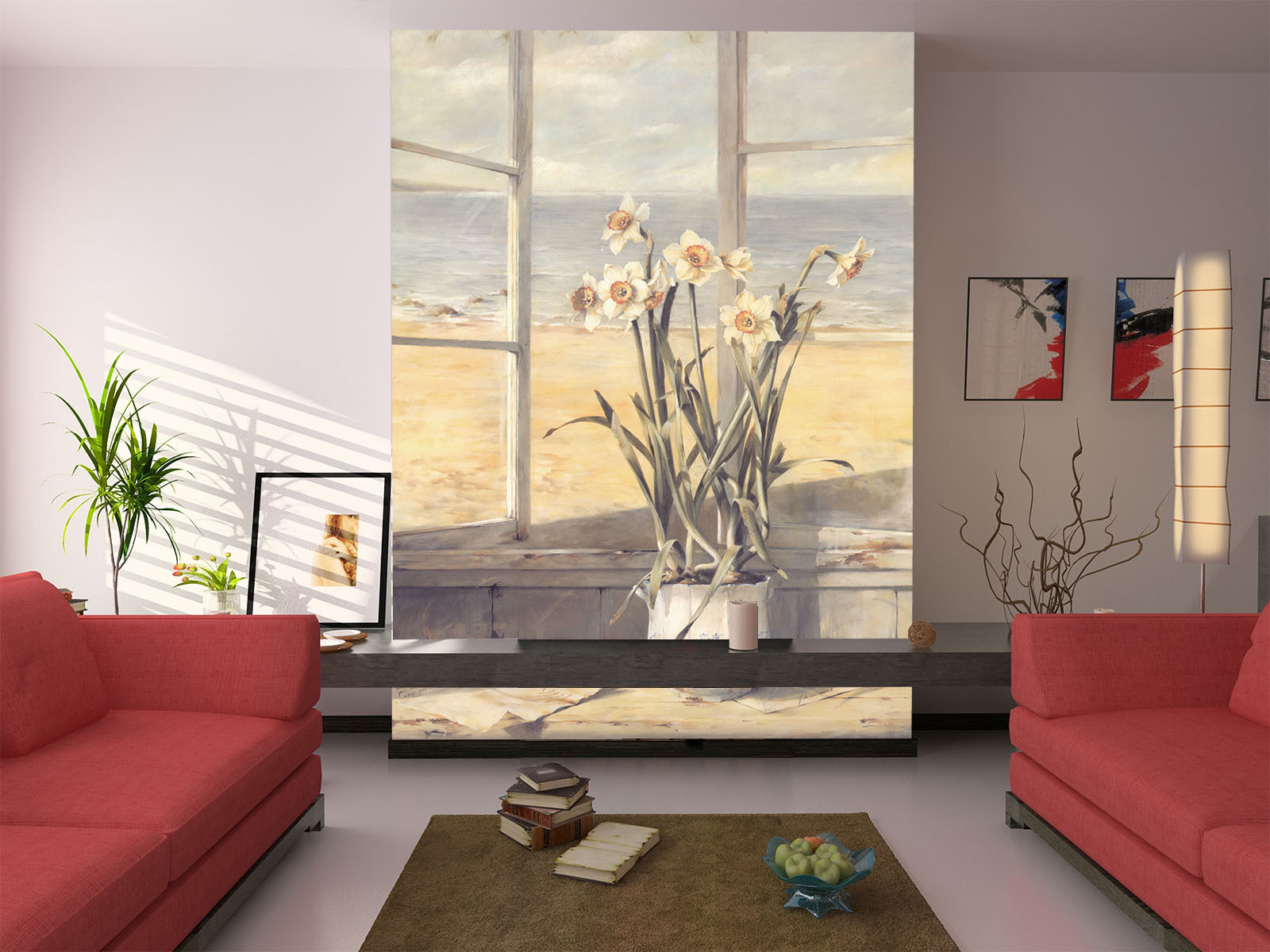 3D Narcissus Painting Paper Wall Print Wall Decal Wall Deco Indoor Murals