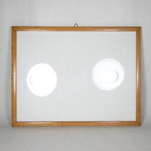 R21-CORNICE-IN-LEGNO-MASSELLO-CHIARO-VETRO-VINTAGE-interno-32-x-24-cm