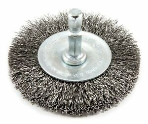 Forney 72734 Wire Wheel Brush, Fine Crimped with 1/4-Inch Hex Shank, 2-1/2-Inch