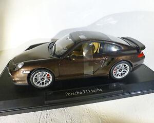 Porsche-911-Turbo-2010-Marron-Metalizado-1-18-Norev