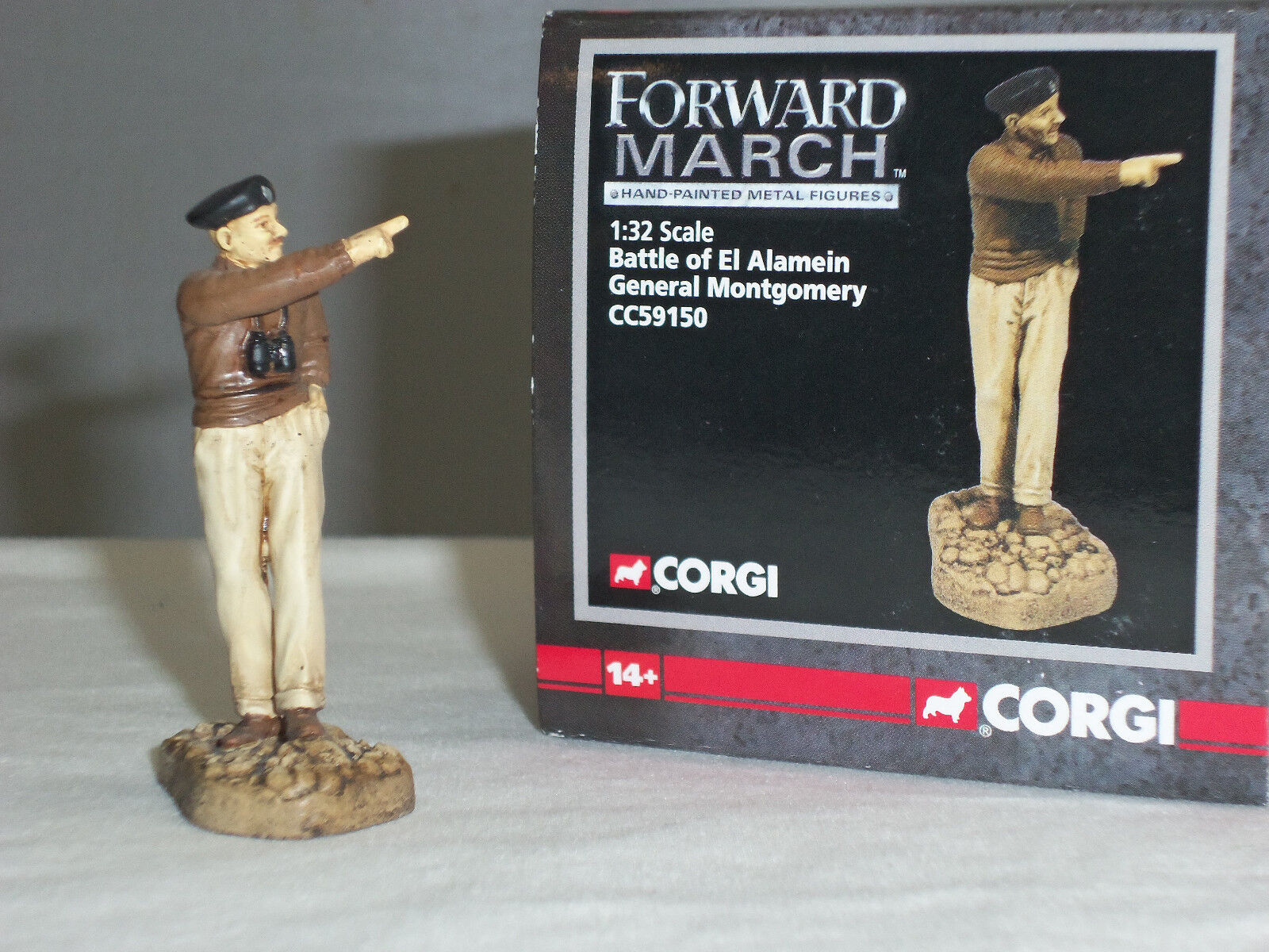 CORGI CC59150 FORWARD MARCH GENERAL BERNARD MONTGOMERY MONTY TOY SOLDIER FIGURE