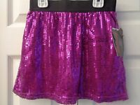 Monster High Sequin Sequined Metallic Shiny Skirt W/ Shorts Silver Or Pink