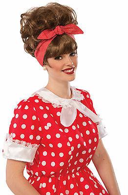 Adult Brown 50's Diner Waitress Dottie Jean Costume Wig