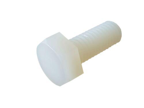 0,18 €//1stk 10 x Boulon Hexagonal plastique m8 20 mm BLANC