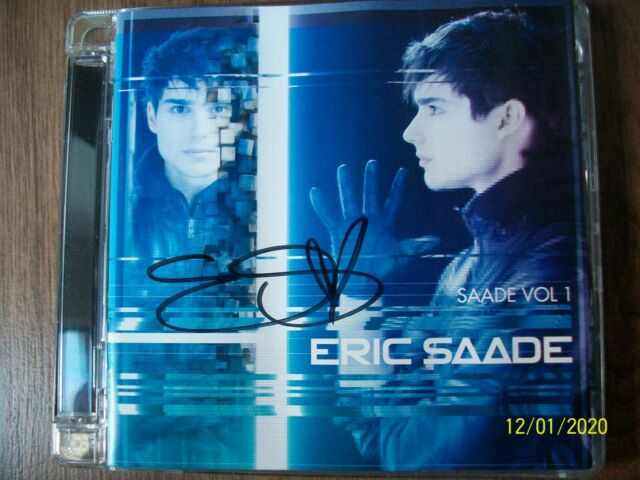 Eric Saade ‎– Saade Vol 1 Super Jewel Box Signed Autograph Autographed CD Volume