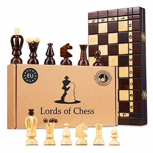 Chess Game for Adults and for Children with Amazinggirl Wooden Chess Set Board