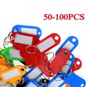 Plastic Key Fobs Luggage ID Label Name Tag Keyring 30 Pcs Blue Supporters Gear Stadium Horns & Megaphones