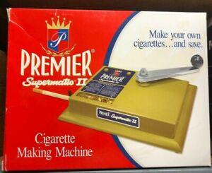 PREMIER Supermatic II 2 Cigarette Maker Rolling Making Tobacco Injector Machine