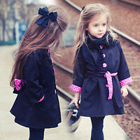 1x Baby Toddler Girls Winter Coat Kids Jacket Cotton Outwear Clothes Hot Selling